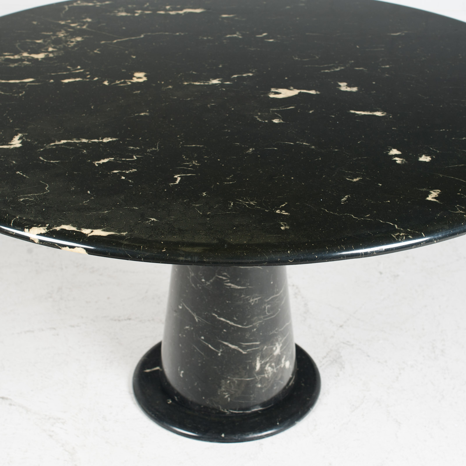 Round Dining Table In Black Marble 1970s Netherlands 02