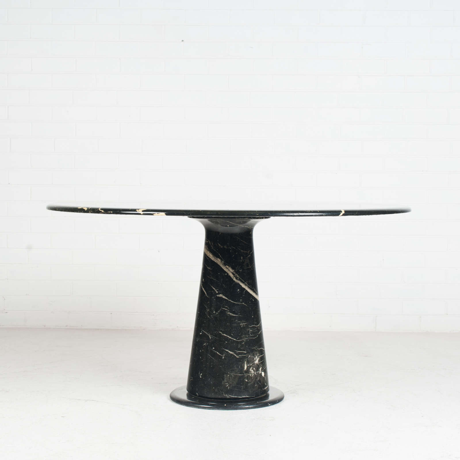 Round Dining Table In Black Marble 1970s Netherlands 03
