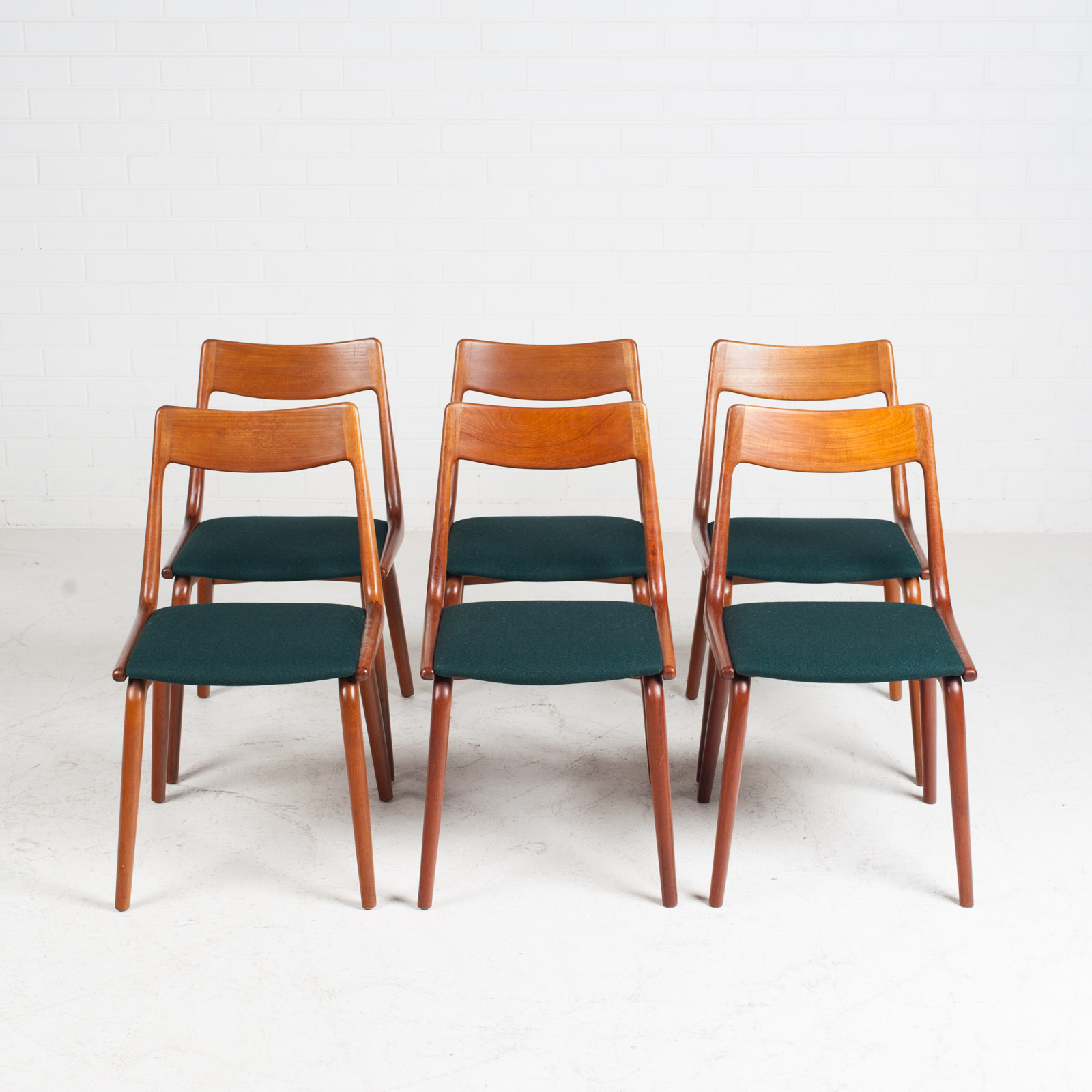 Set Of 6 Model 370 'boomerang' Dining Chair By Alfred Christensen In Teak For Slagelse Mobelfabrik 1950s Denmark 10