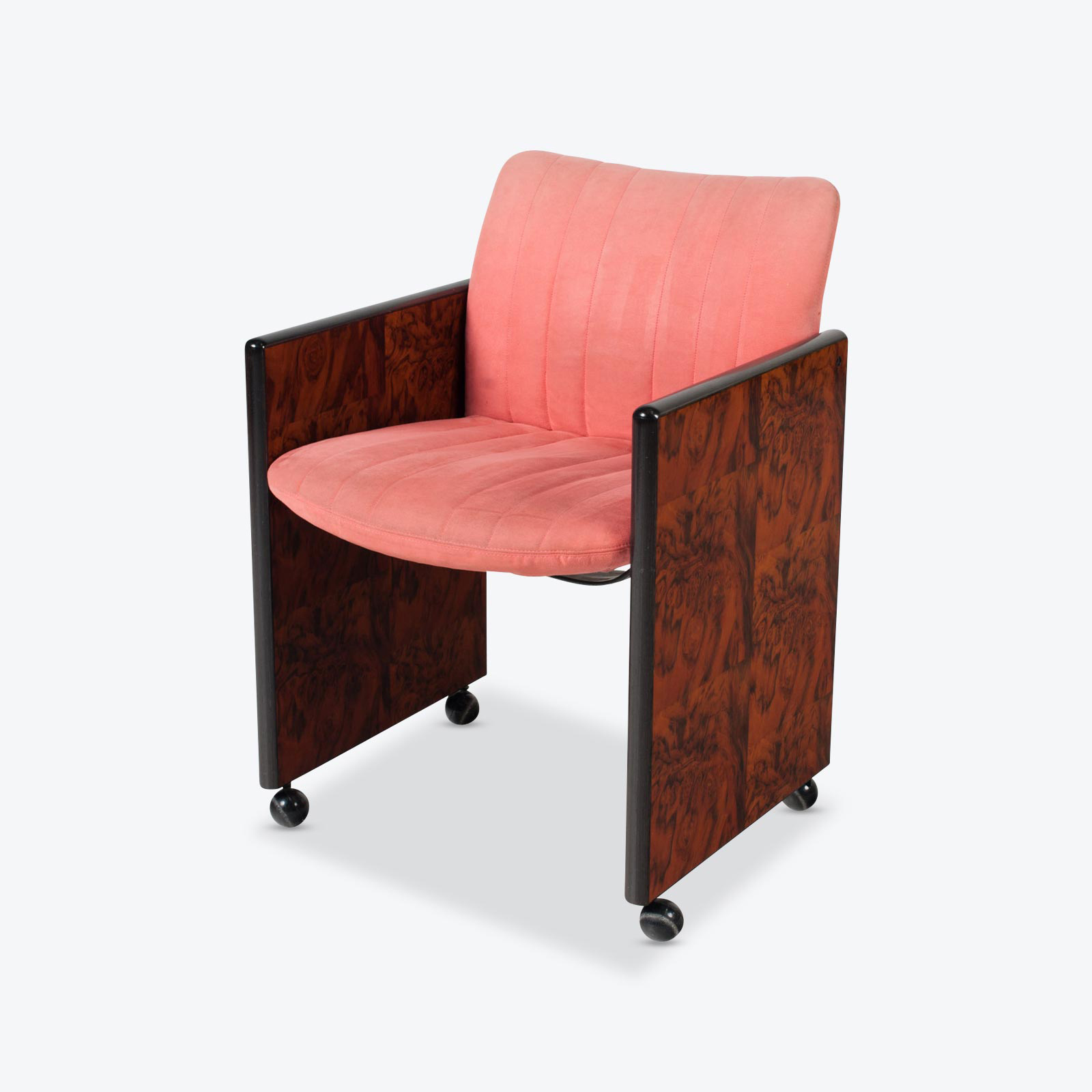 Set Of 8 Chairs By Kazuhide Takahama In Pink Upholstery 1950s Italy 00
