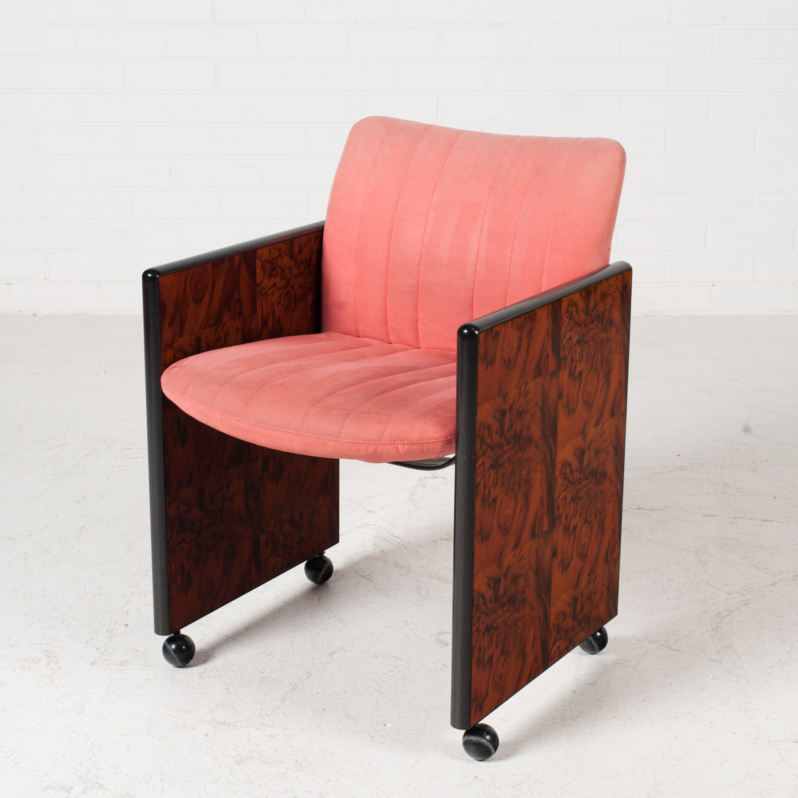 Set Of 8 Chairs By Kazuhide Takahama In Pink Upholstery 1950s Italy 01