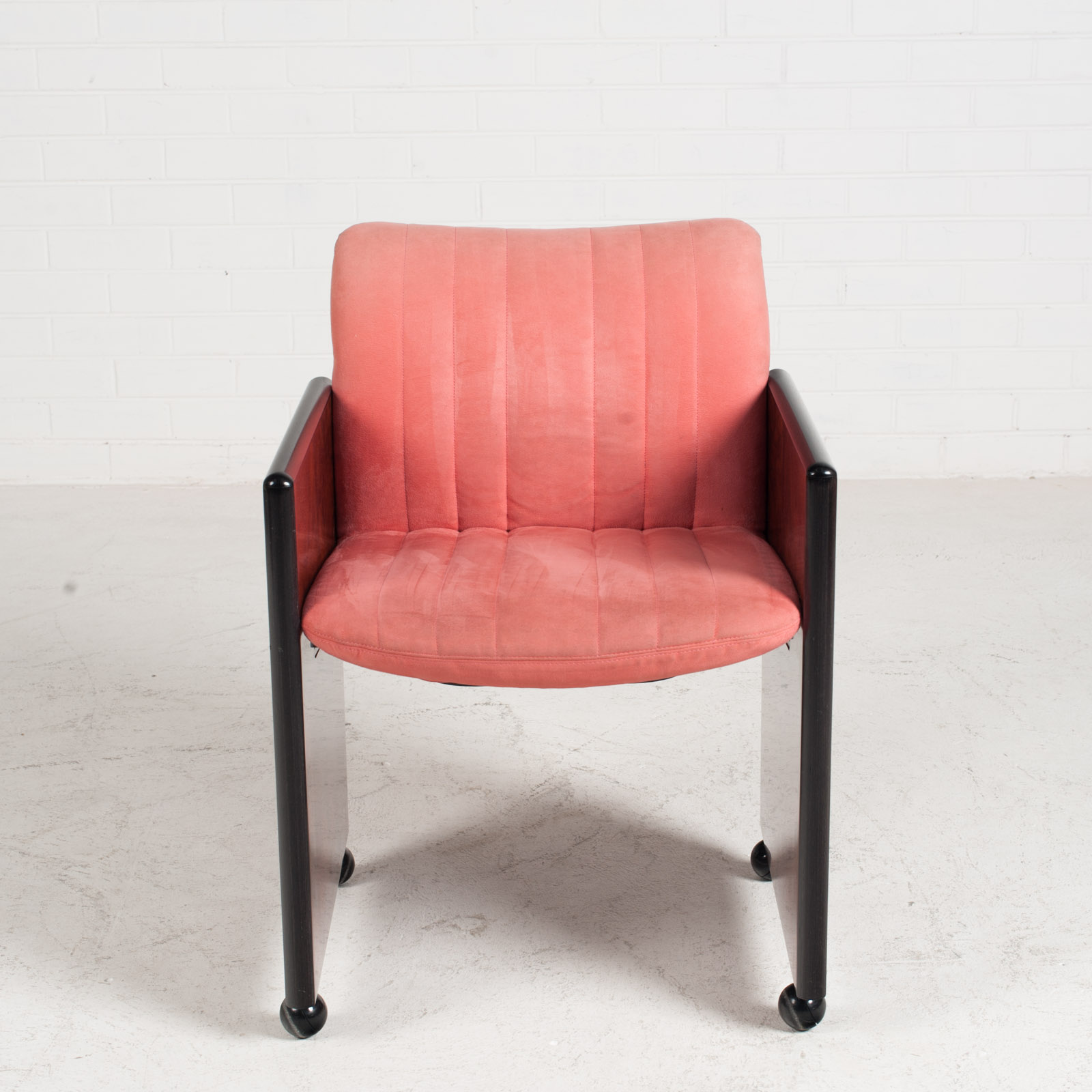 Set Of 8 Chairs By Kazuhide Takahama In Pink Upholstery 1950s Italy 02