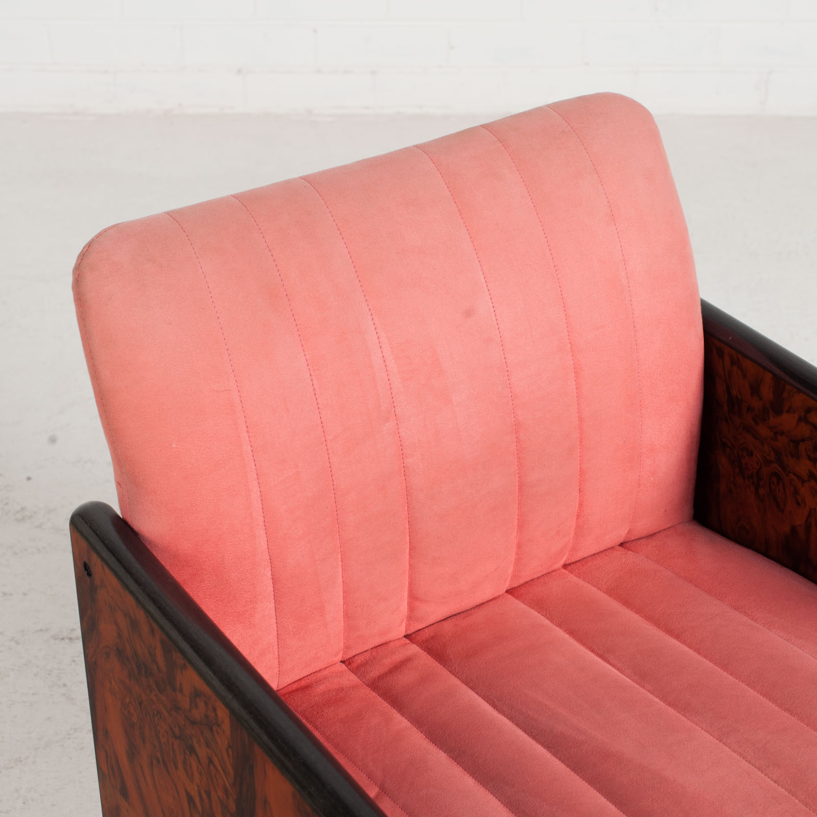 Set Of 8 Chairs By Kazuhide Takahama In Pink Upholstery 1950s Italy 05