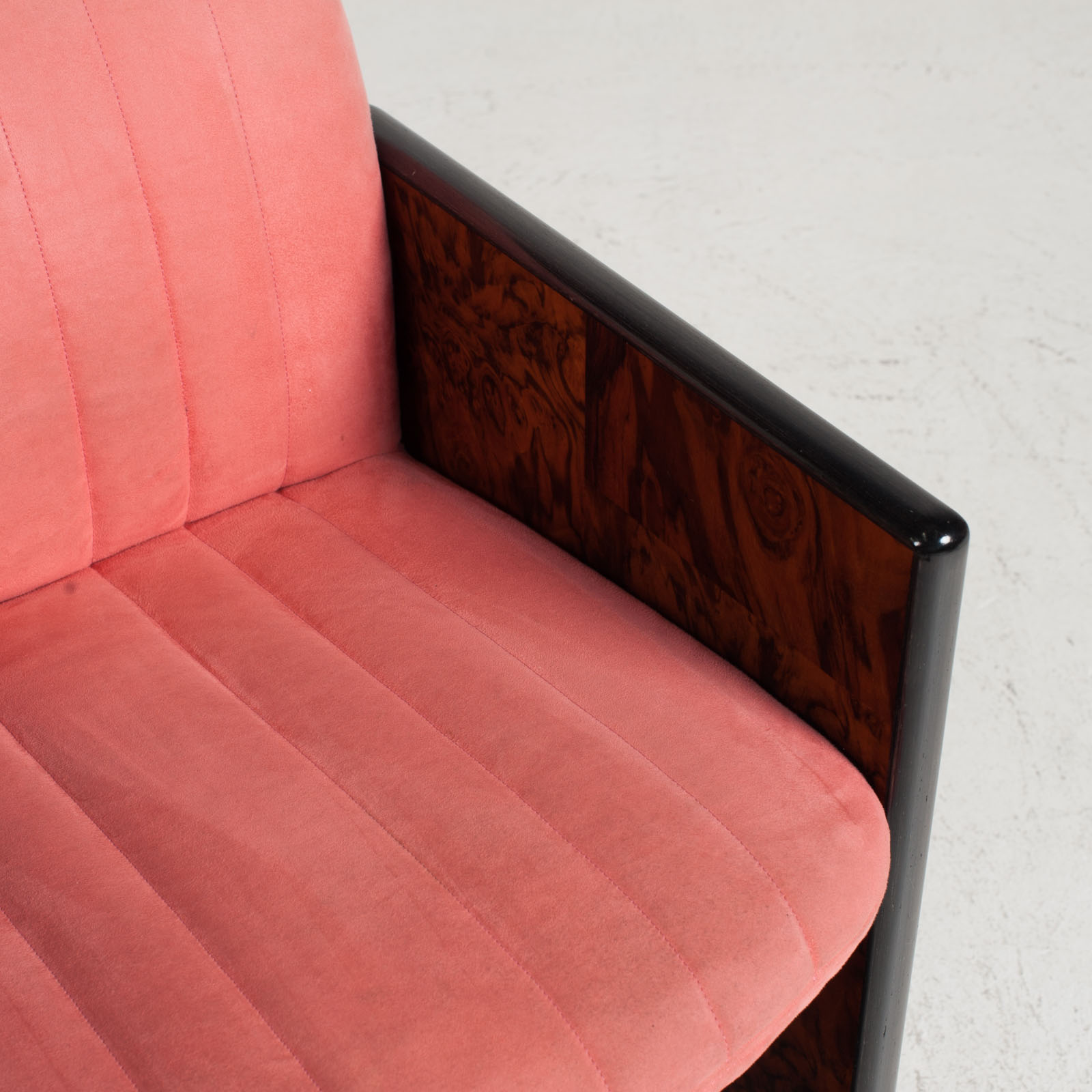 Set Of 8 Chairs By Kazuhide Takahama In Pink Upholstery 1950s Italy 06