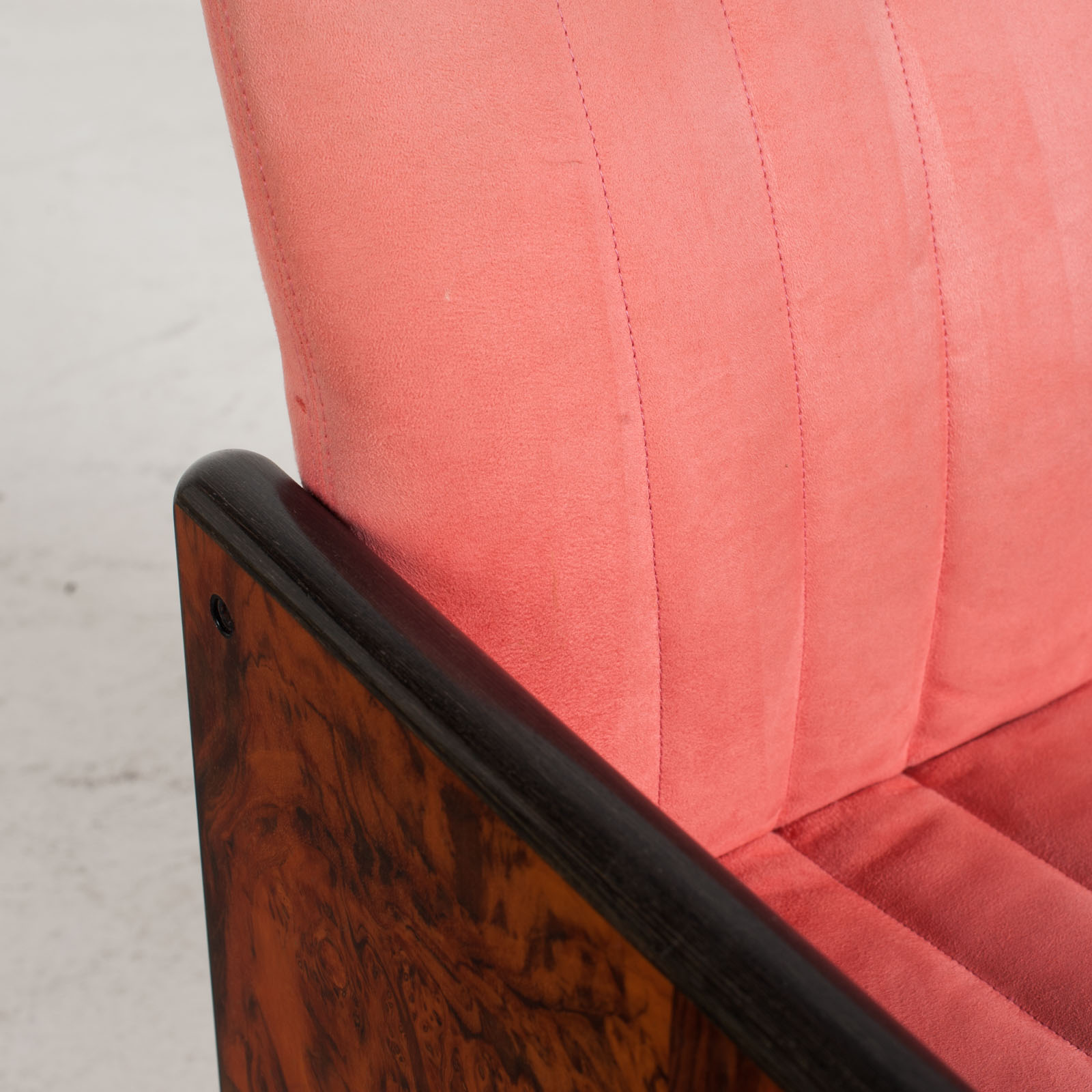 Set Of 8 Chairs By Kazuhide Takahama In Pink Upholstery 1950s Italy 08