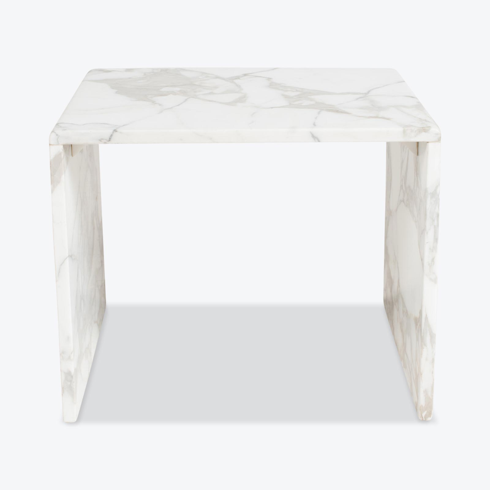 Side Table In Calacatta Marble 1960s Netherlands 00