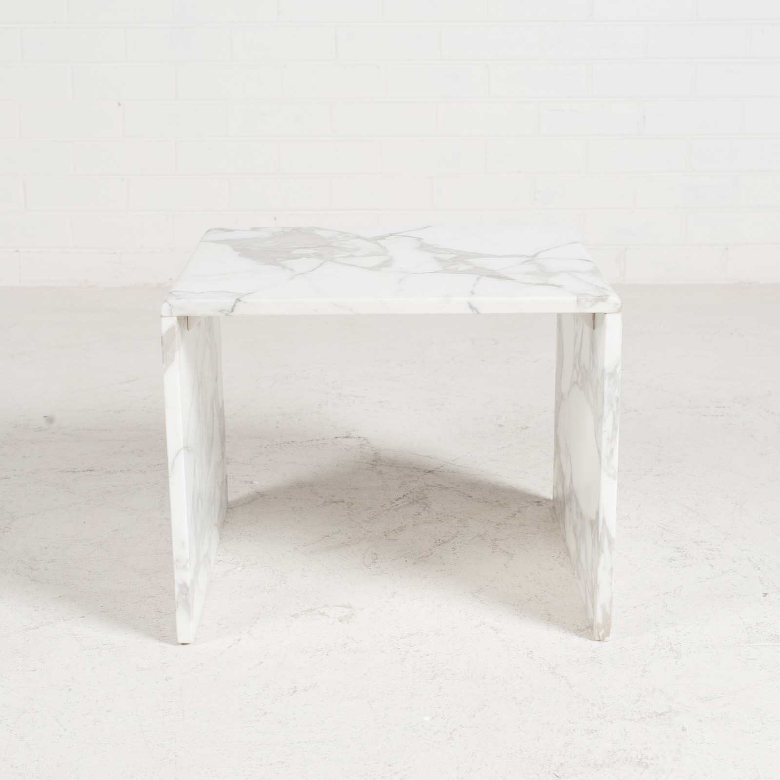 Side Table In Calacatta Marble 1960s Netherlands 01