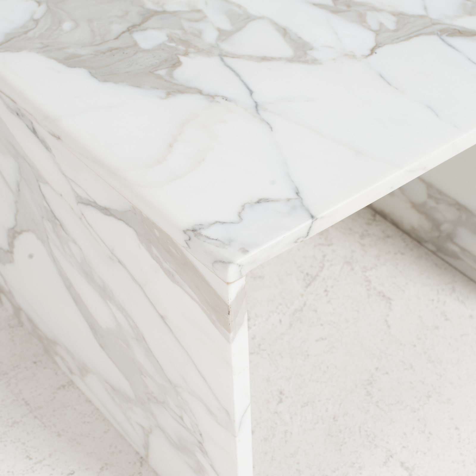 Side Table In Calacatta Marble 1960s Netherlands 03