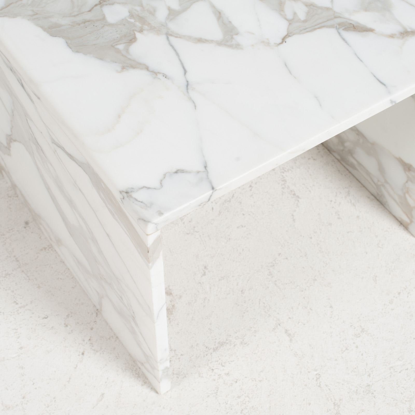 Side Table In Calacatta Marble 1960s Netherlands 07