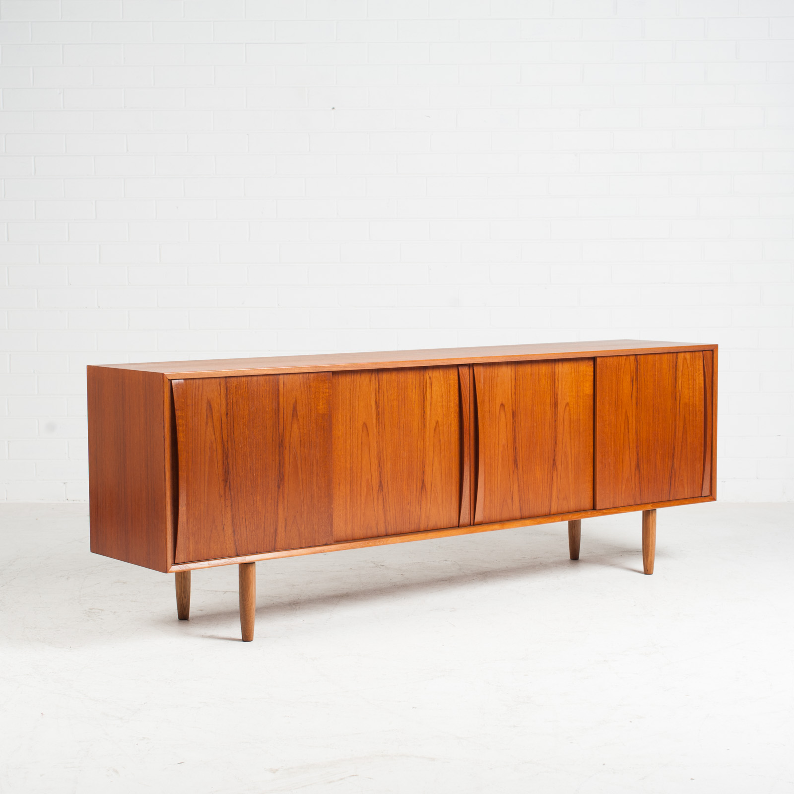Sideboard In Teak With Two Sliding Drawers 1960s Denmark 02