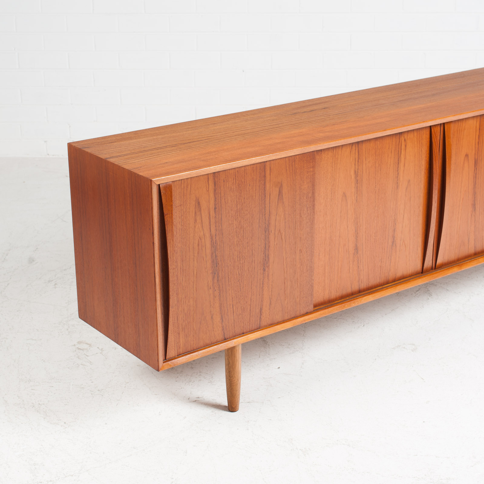 Sideboard In Teak With Two Sliding Drawers 1960s Denmark 03
