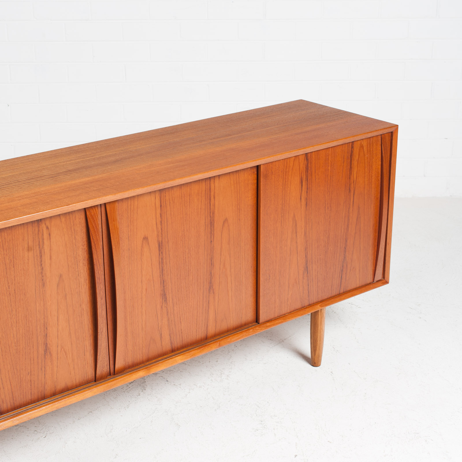 Sideboard In Teak With Two Sliding Drawers 1960s Denmark 04