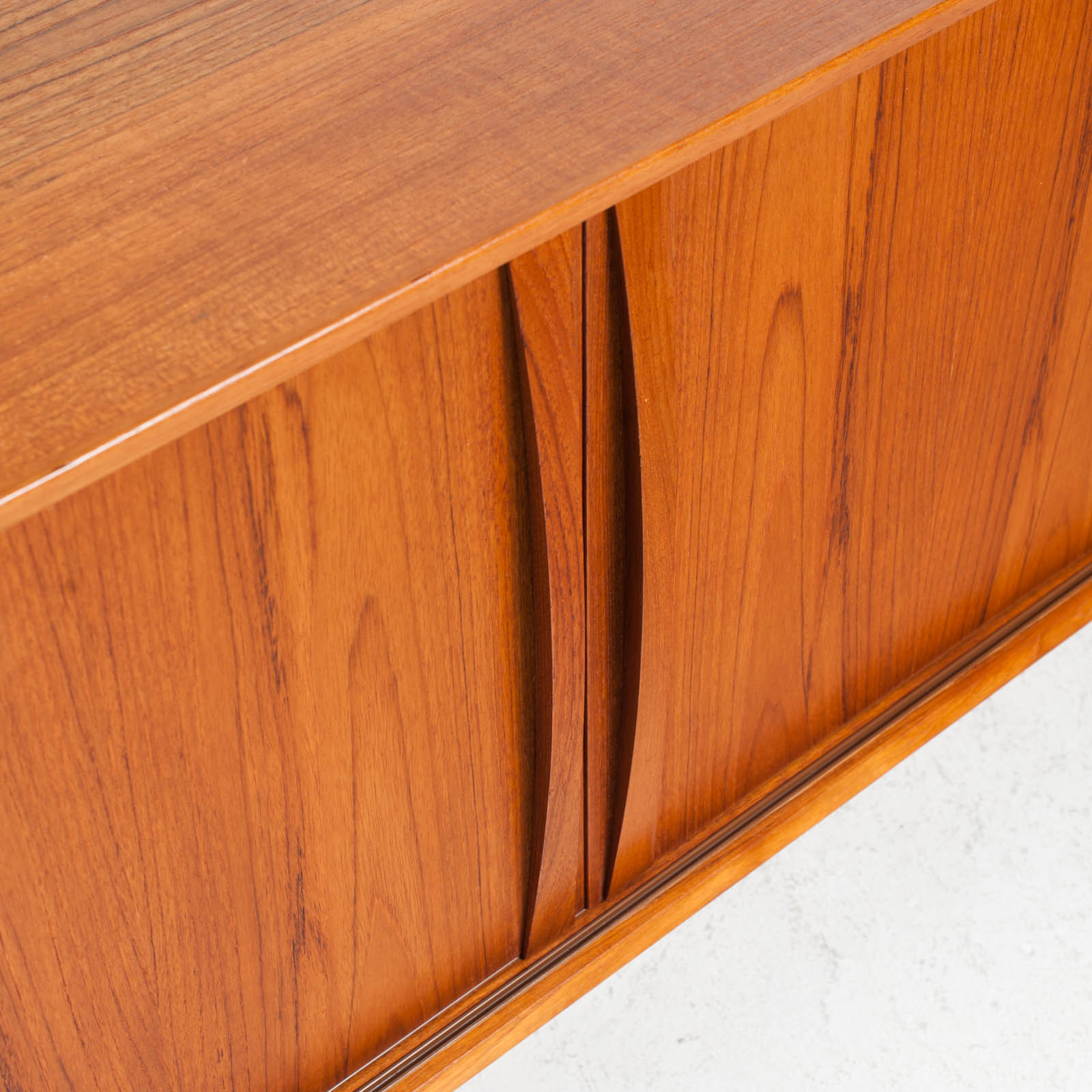 Sideboard In Teak With Two Sliding Drawers 1960s Denmark 07