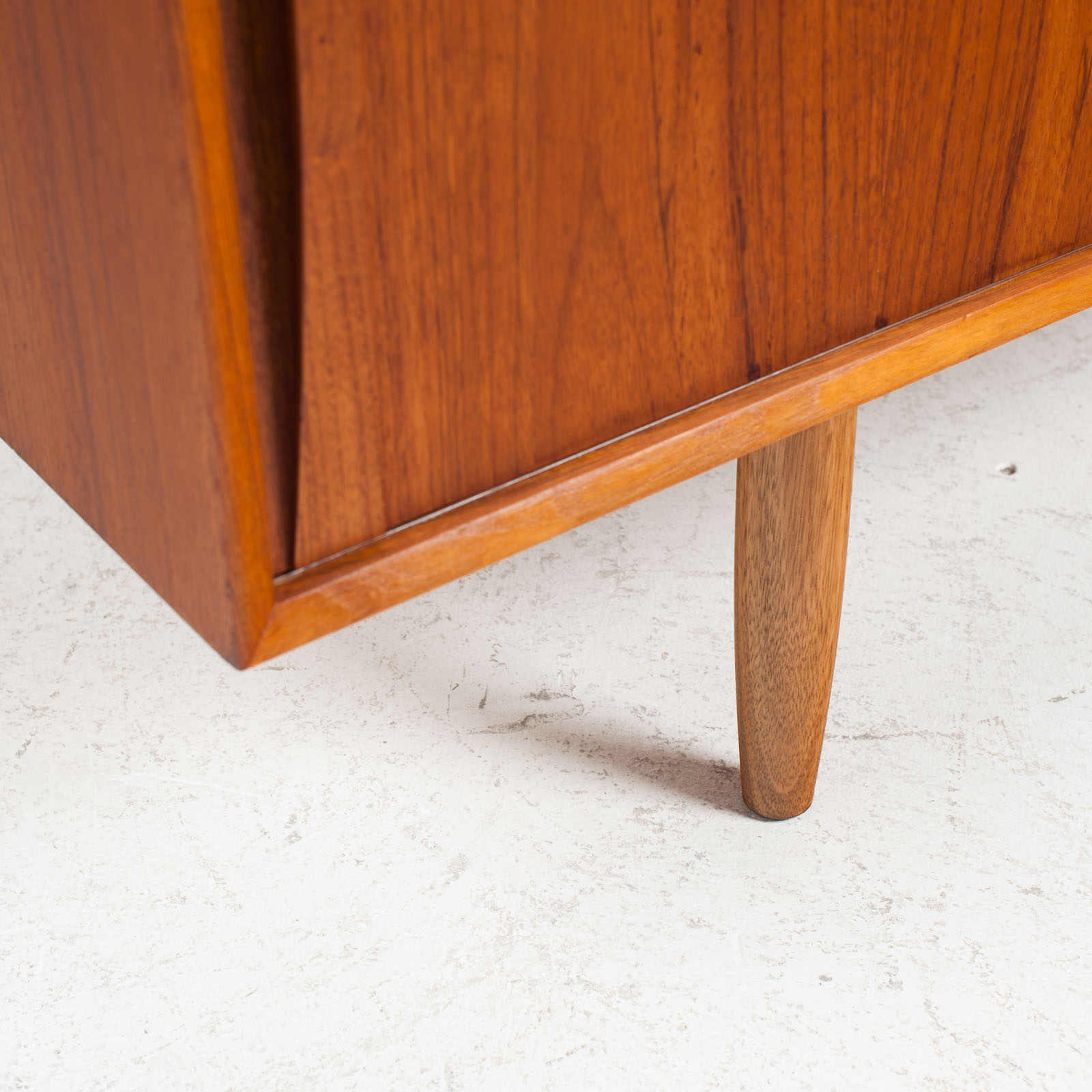 Sideboard In Teak With Two Sliding Drawers 1960s Denmark 09