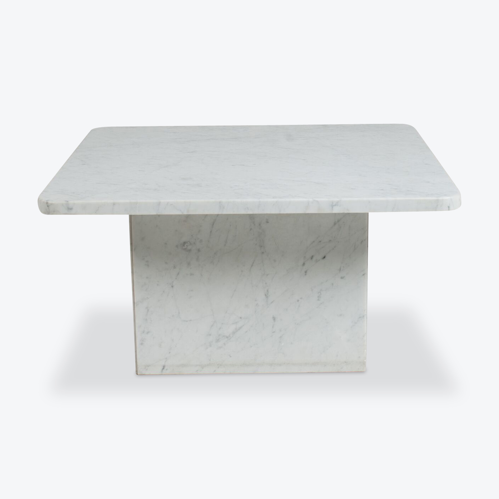 Square Coffee Table In Marble With Rounded Edges 1970s Netherlands 00.jpg
