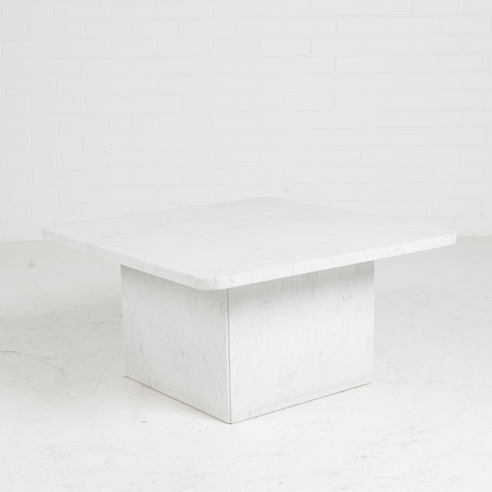 Square Coffee Table In Marble With Rounded Corners 1970s Netherlands Modern Times