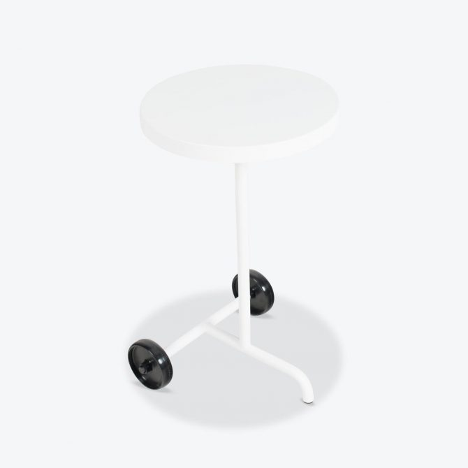Wheely Table White Powder Coated Steel By Steelotto.jpg