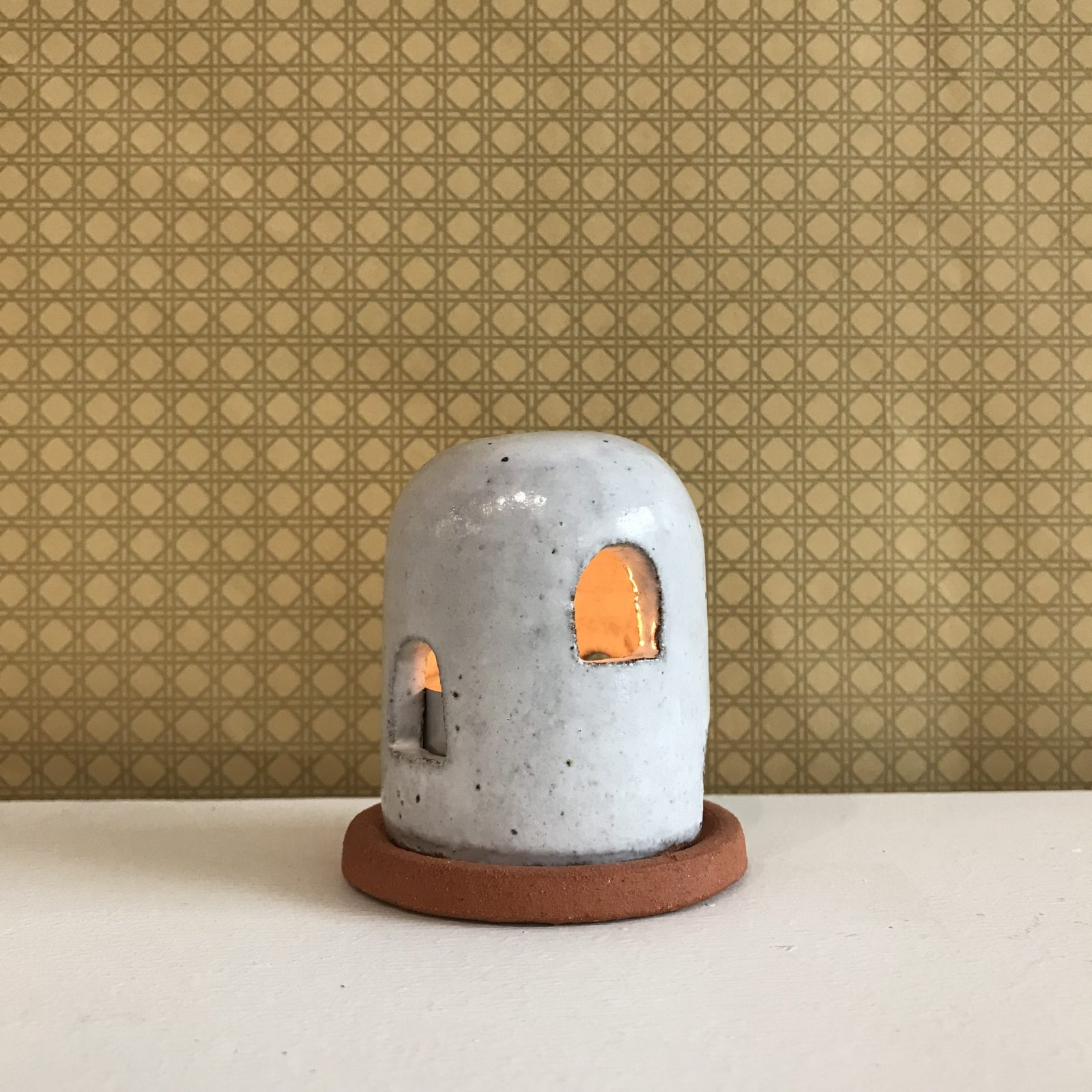 Adobe Burner In Red Terracotta Midfire With White Glaze By Oh Hey Grace 50