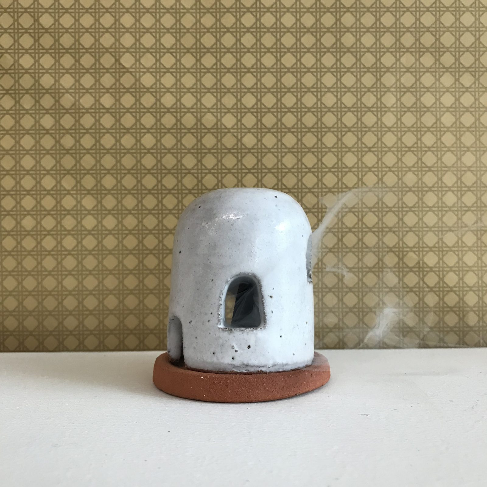 Adobe Burner In Red Terracotta Midfire With White Glaze By Oh Hey Grace 51
