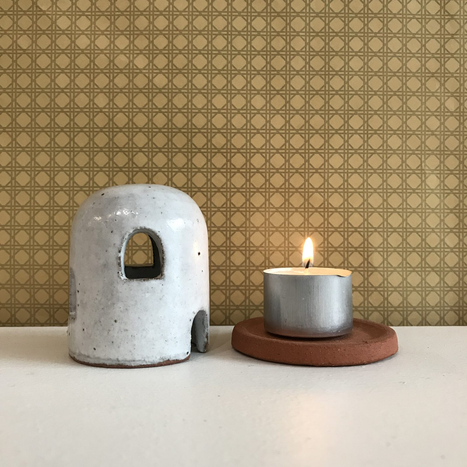 Adobe Burner In Red Terracotta Midfire With White Glaze By Oh Hey Grace 52