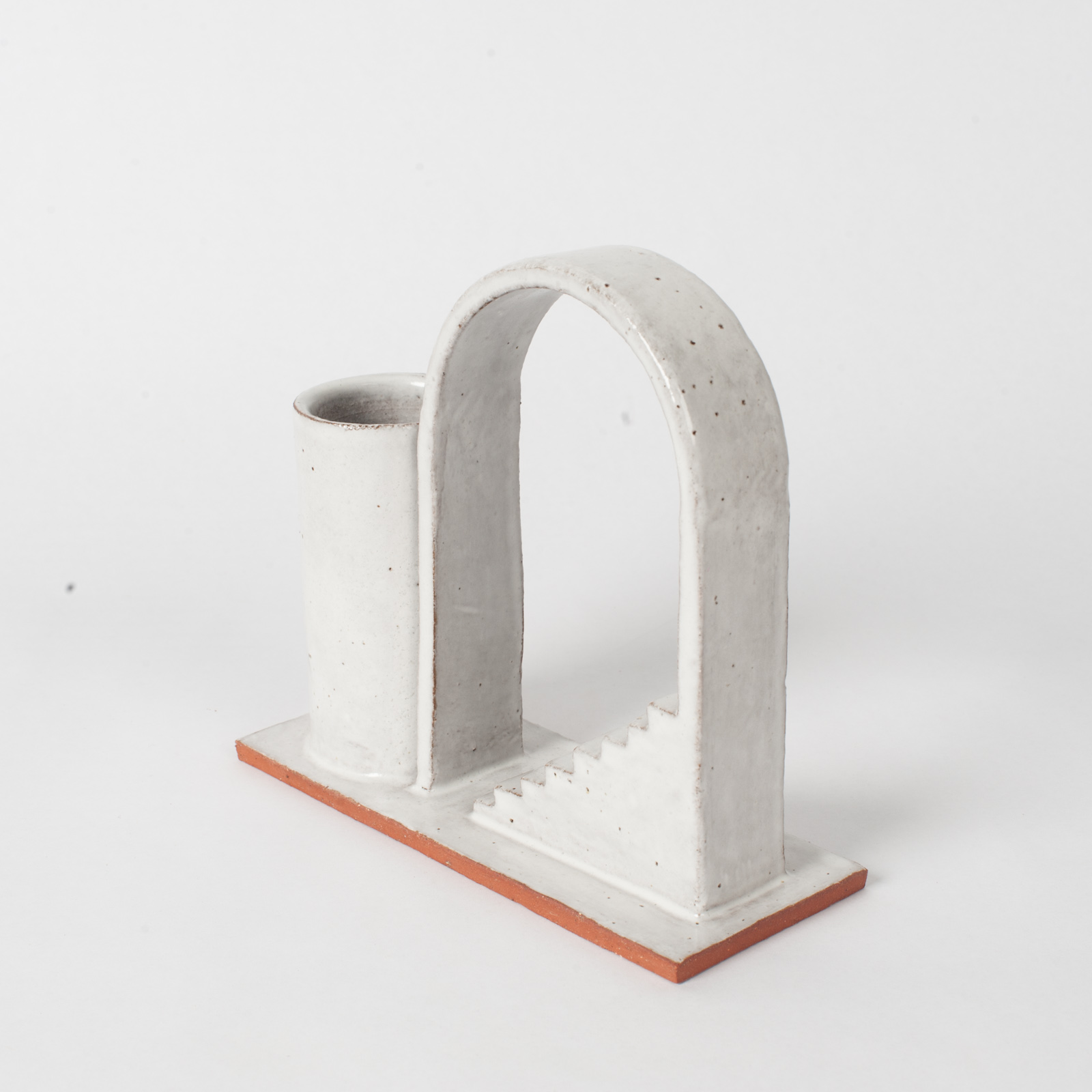 Archway Budvase In Red Terracotta Midfire With White Glaze By Oh Hey Grace 02
