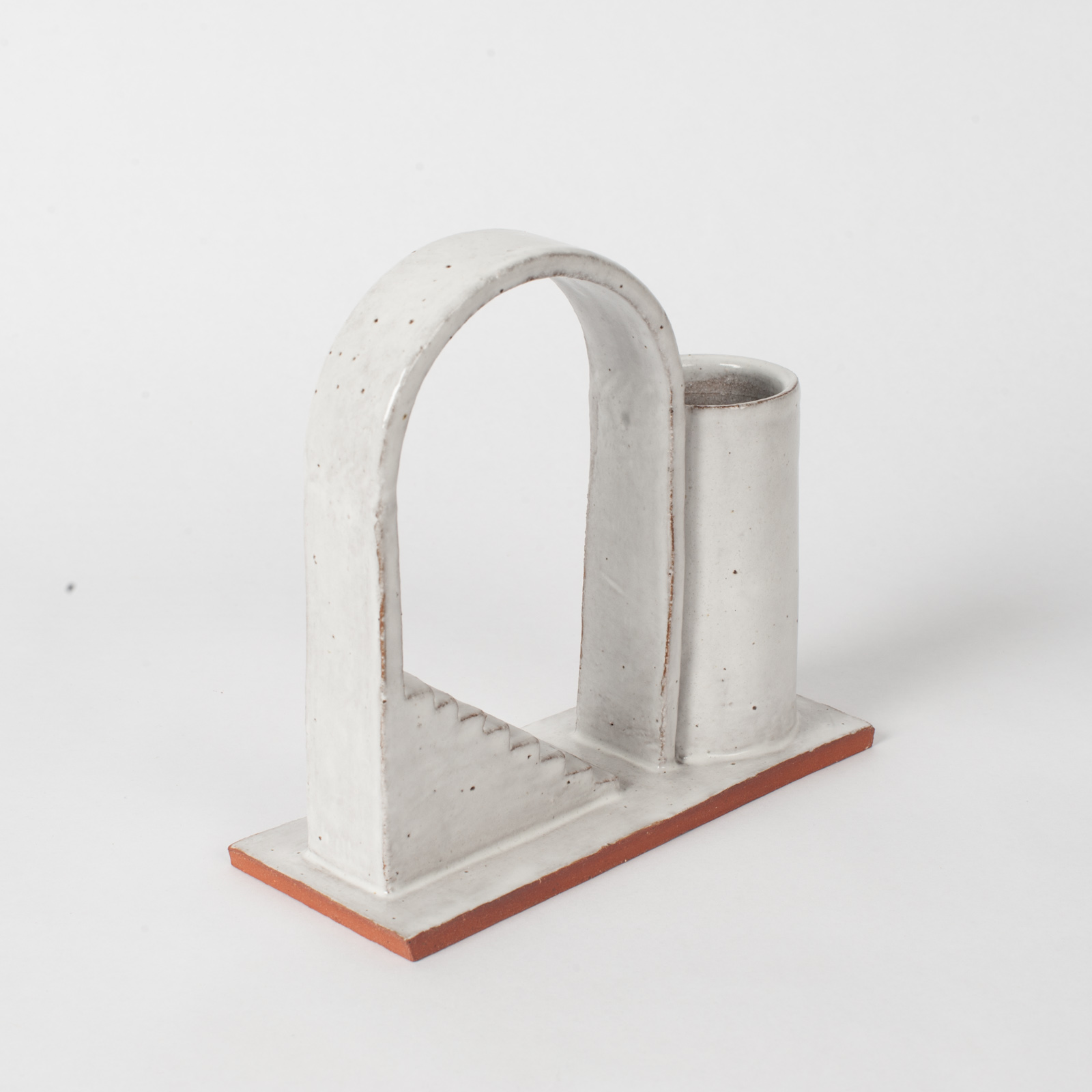 Archway Budvase In Red Terracotta Midfire With White Glaze By Oh Hey Grace 03