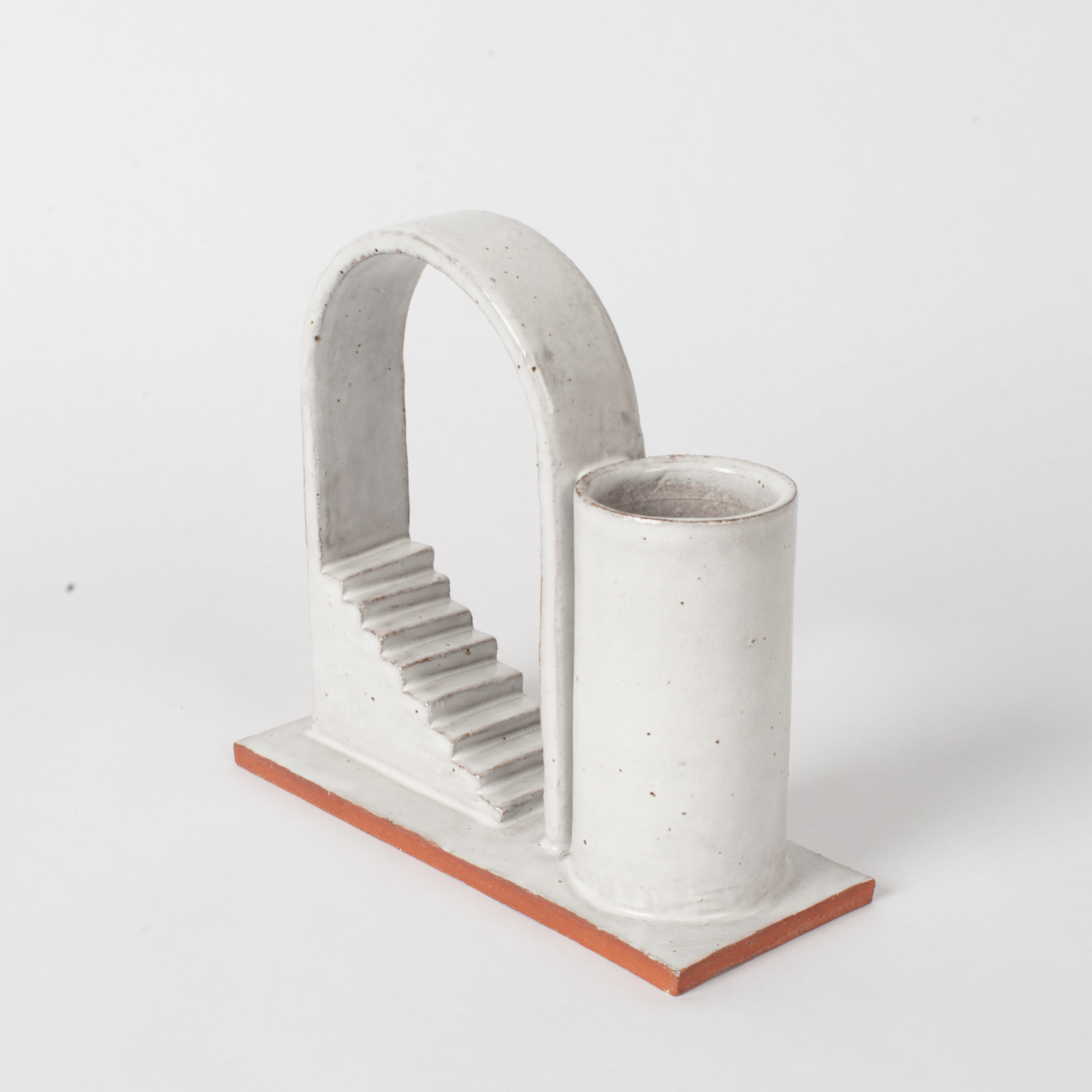 Archway Budvase In Red Terracotta Midfire With White Glaze By Oh Hey Grace 04