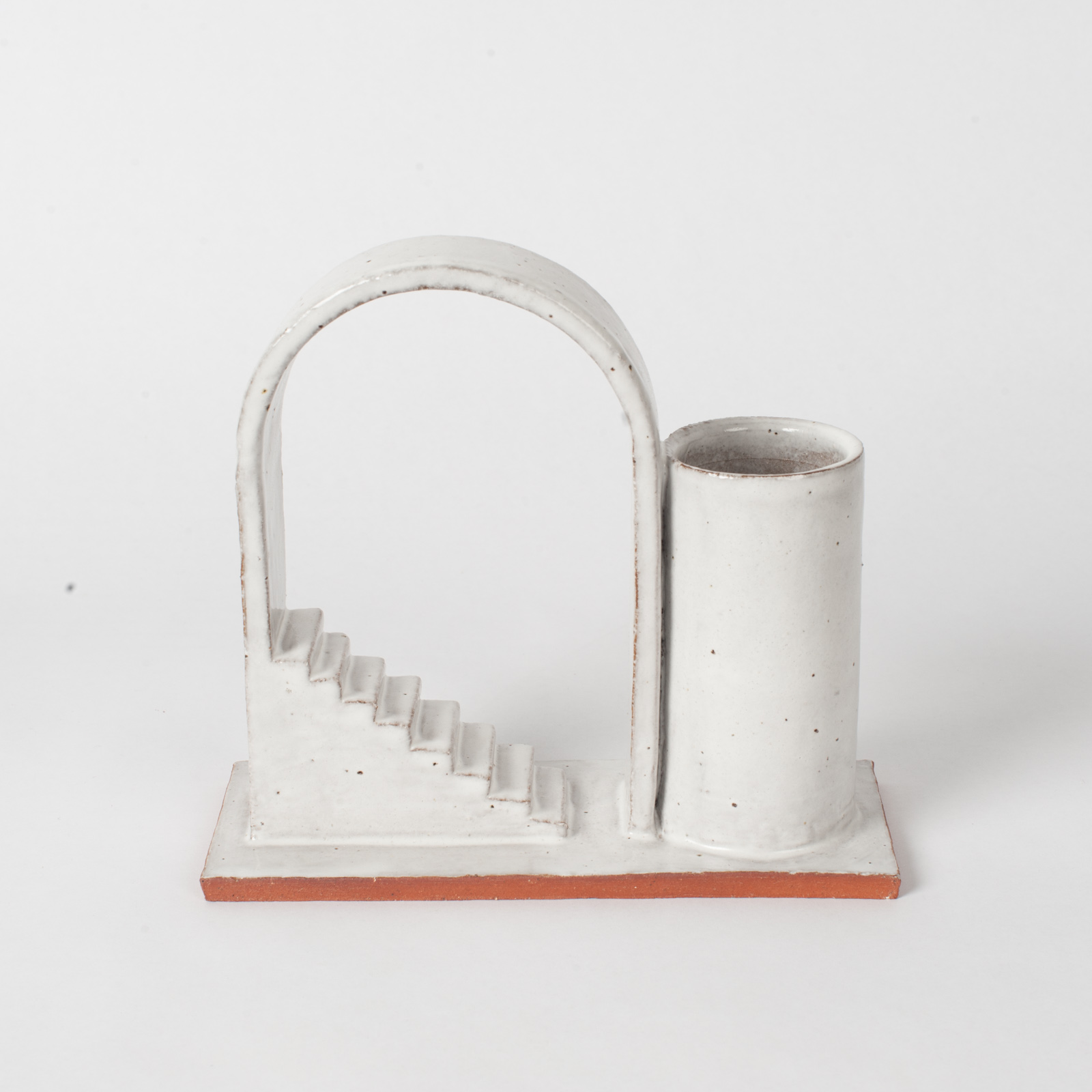 Archway Budvase In Red Terracotta Midfire With White Glaze By Oh Hey Grace 05