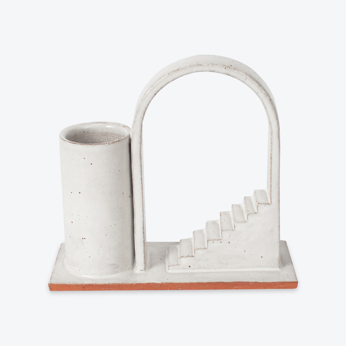 Archway Budvase In Red Terracotta Midfire With White Glaze By Oh Hey Grace Thumb.jpg