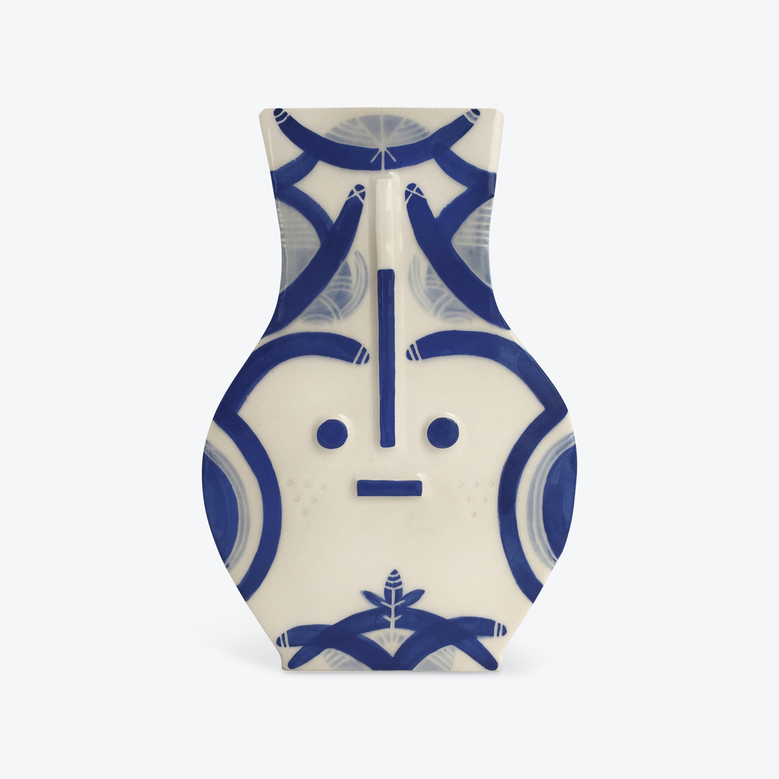 Blue Destiny Blue Ceramic Vase By Louise Kyriakou 01