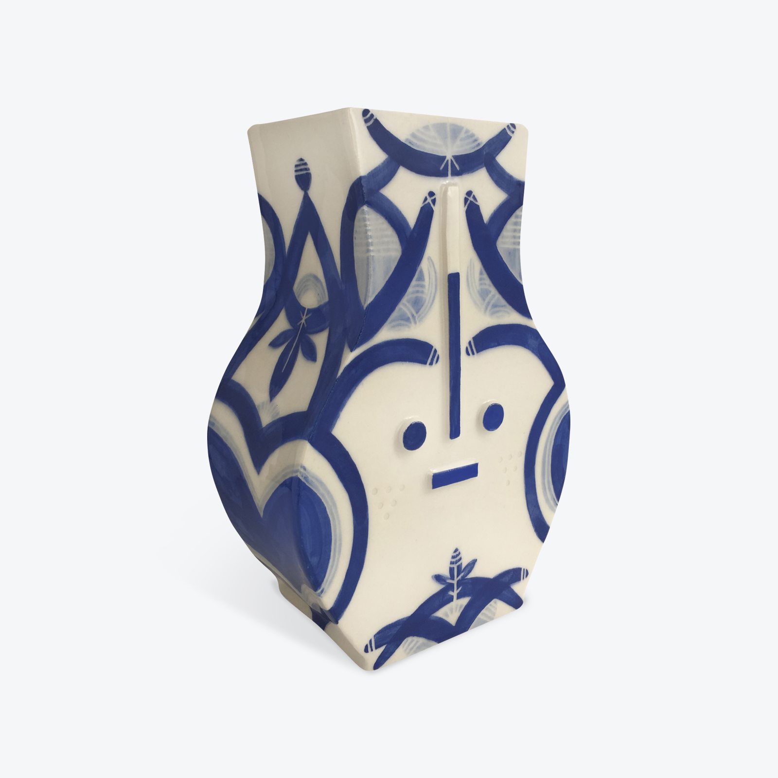 Blue Destiny Blue Ceramic Vase By Louise Kyriakou 02