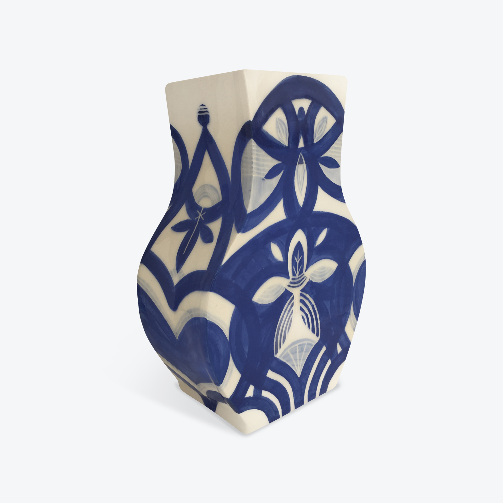 Blue Destiny Blue Ceramic Vase By Louise Kyriakou 03
