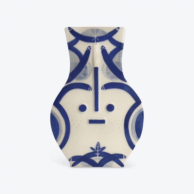 Blue Destiny Blue Ceramic Vase By Louise Kyriakou Thumb.jpg
