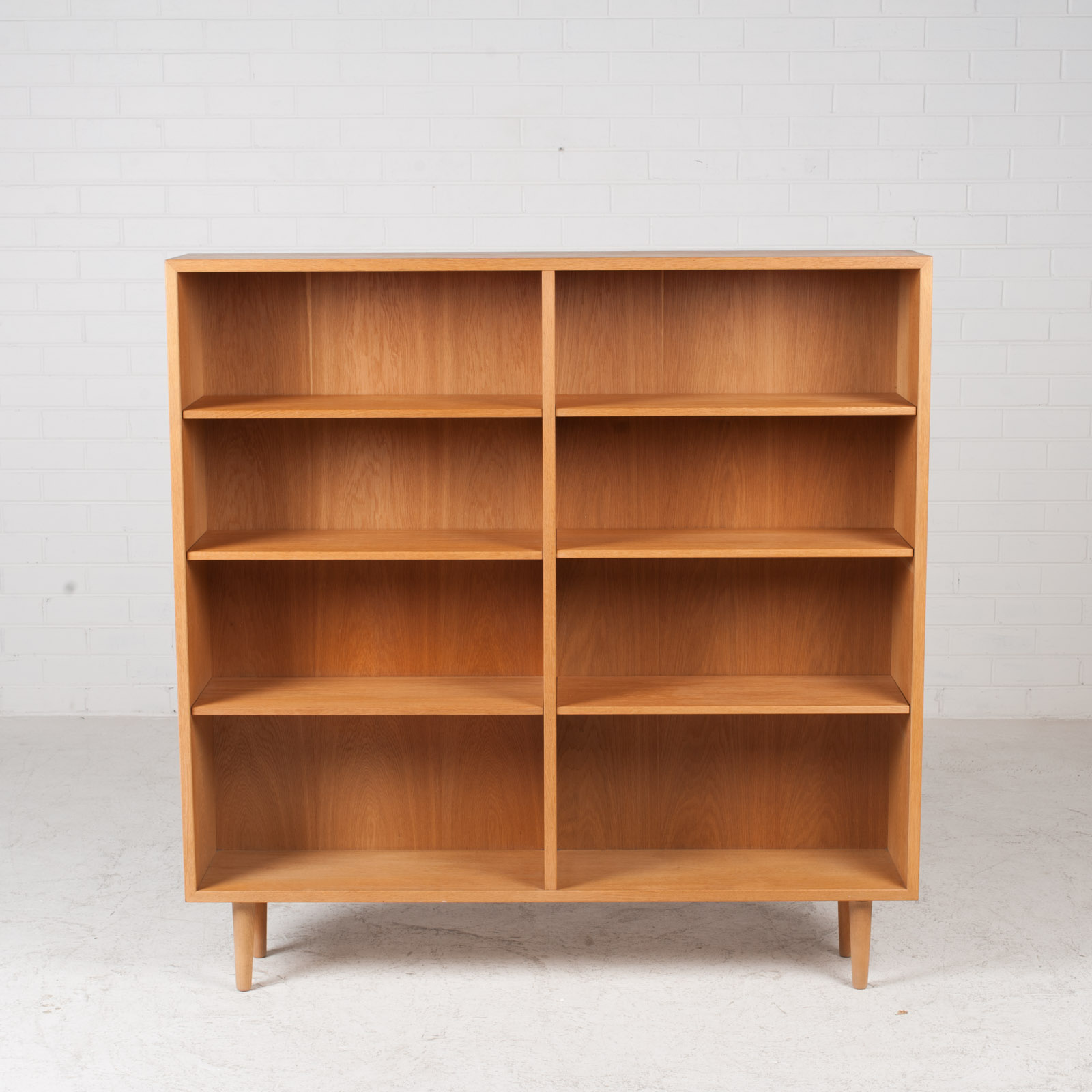 Bookcase By Borge Mogensen In Oak 1960s Denmark 02