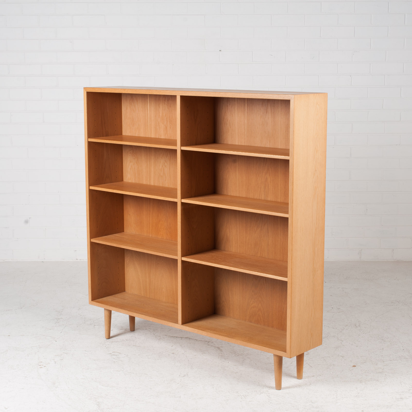 Bookcase By Borge Mogensen In Oak 1960s Denmark 03