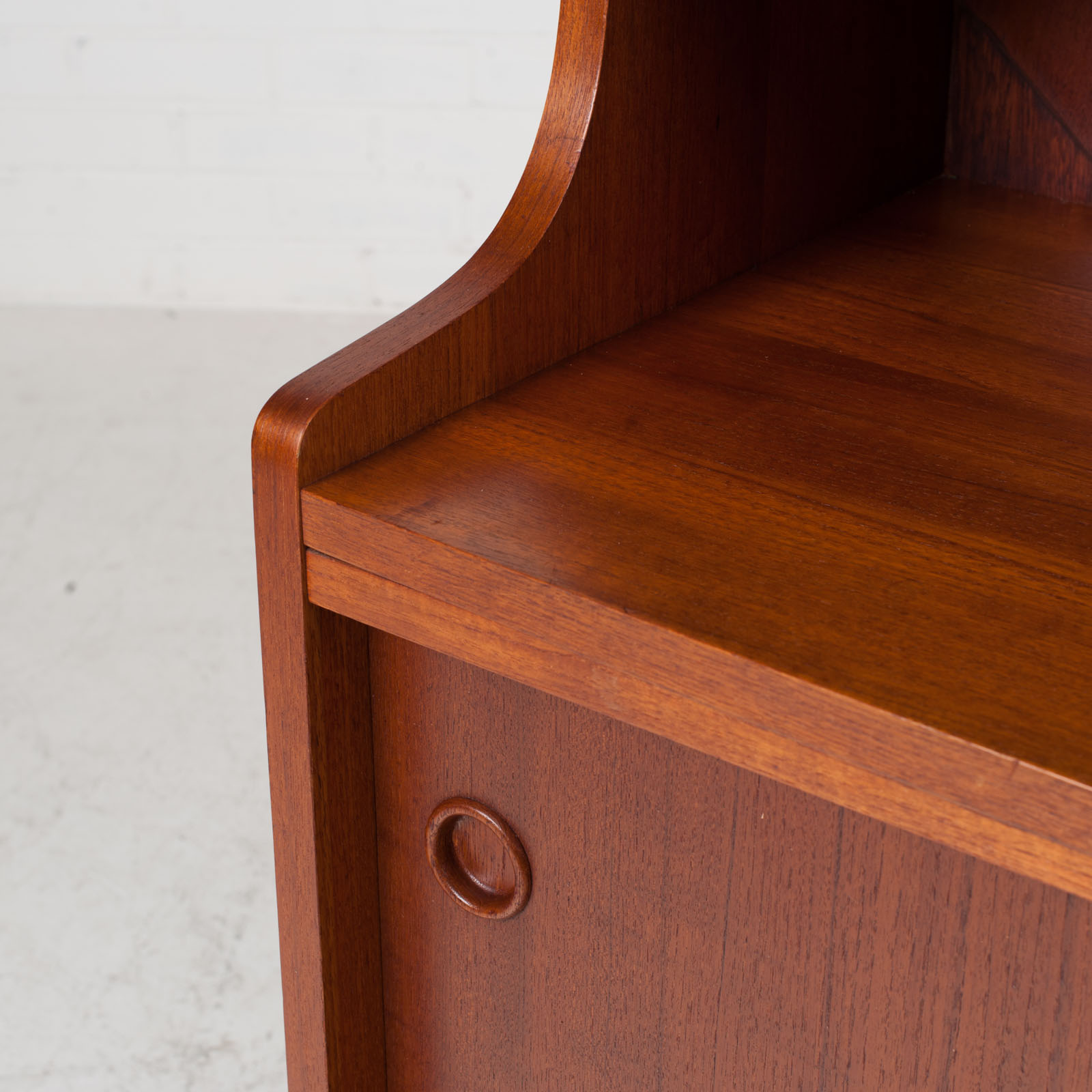 Bookcase With Cabinet And Concealed Desk In Teak 1960s Denmark 06