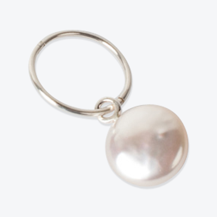 Coin Freshwater Pearl Sleeper In Sterling Silver By Pip Stent Thumb.jpg