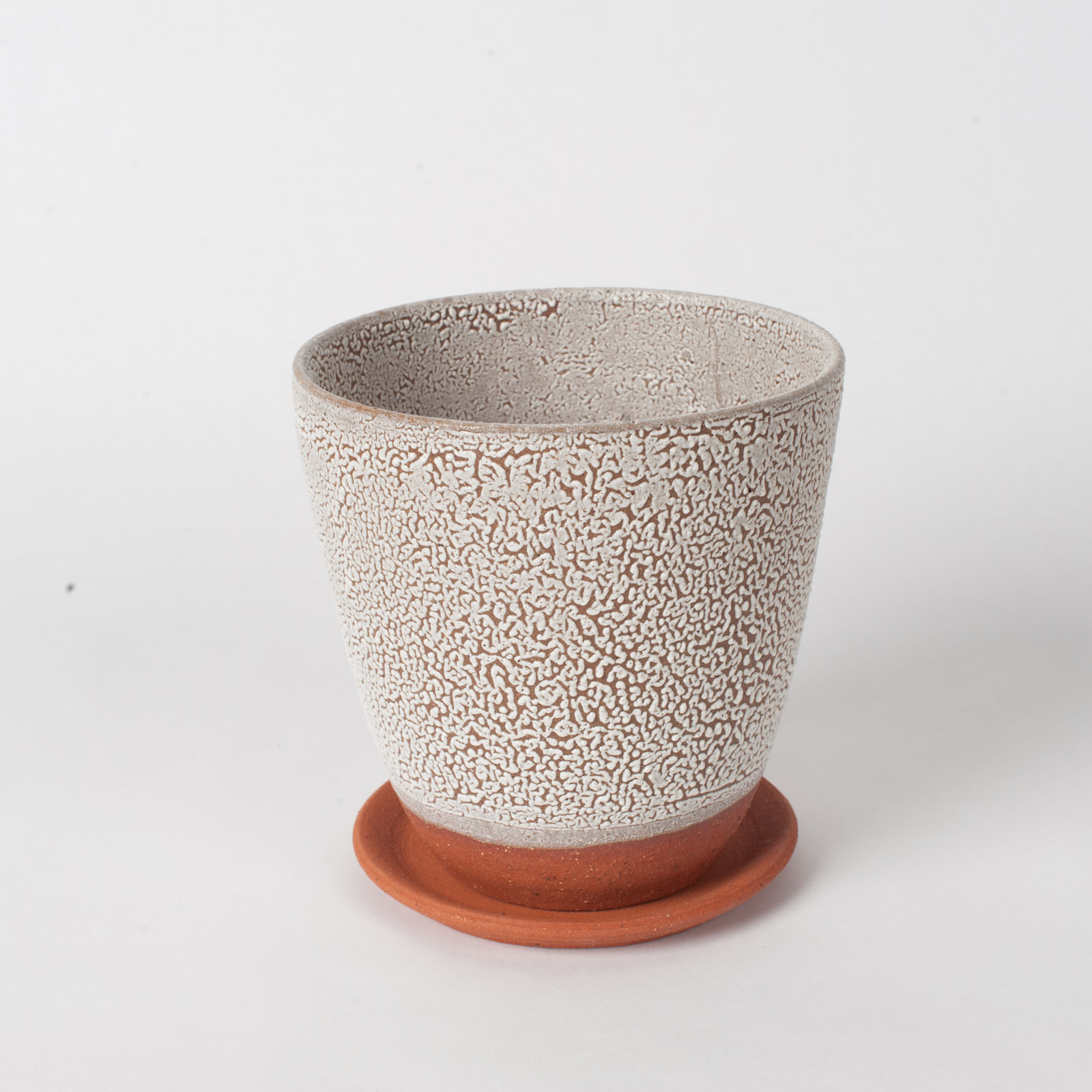 Crawl Planter In Red Terracotta Midfire With White Crawl Glaze By Oh Hey Grace 02