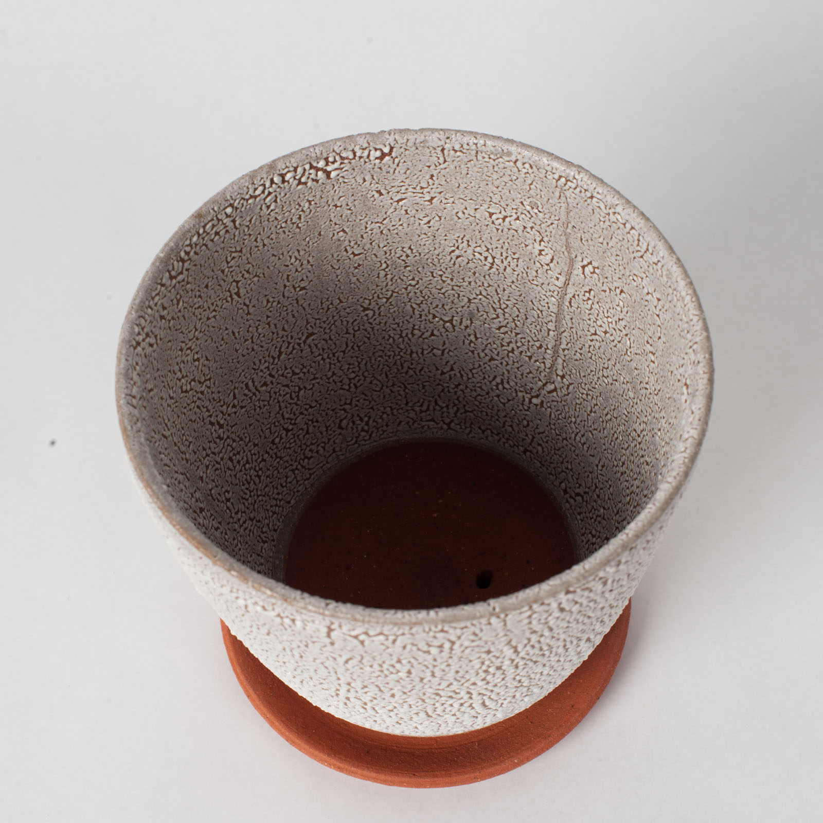 Crawl Planter In Red Terracotta Midfire With White Crawl Glaze By Oh Hey Grace 03