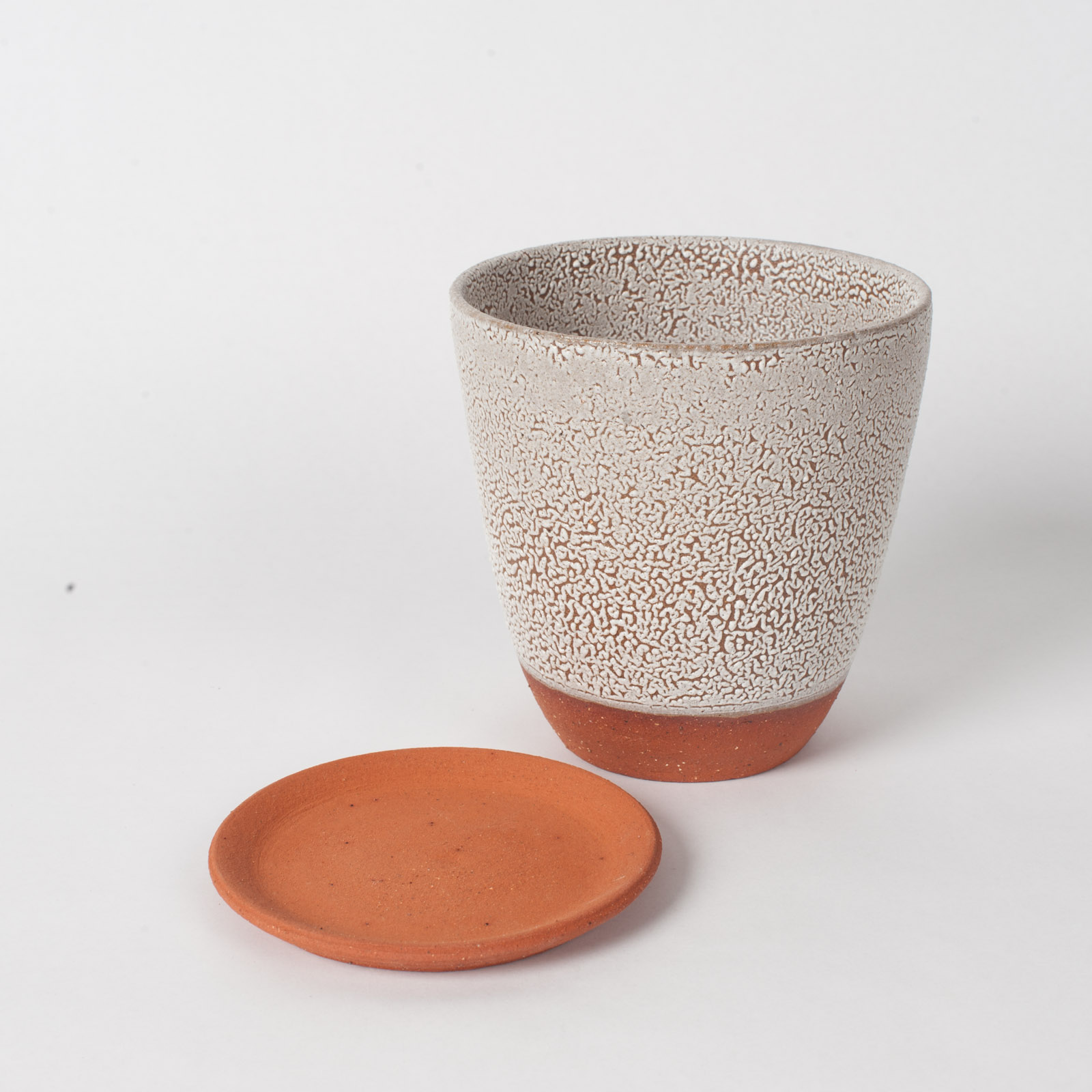 Crawl Planter In Red Terracotta Midfire With White Crawl Glaze By Oh Hey Grace 05