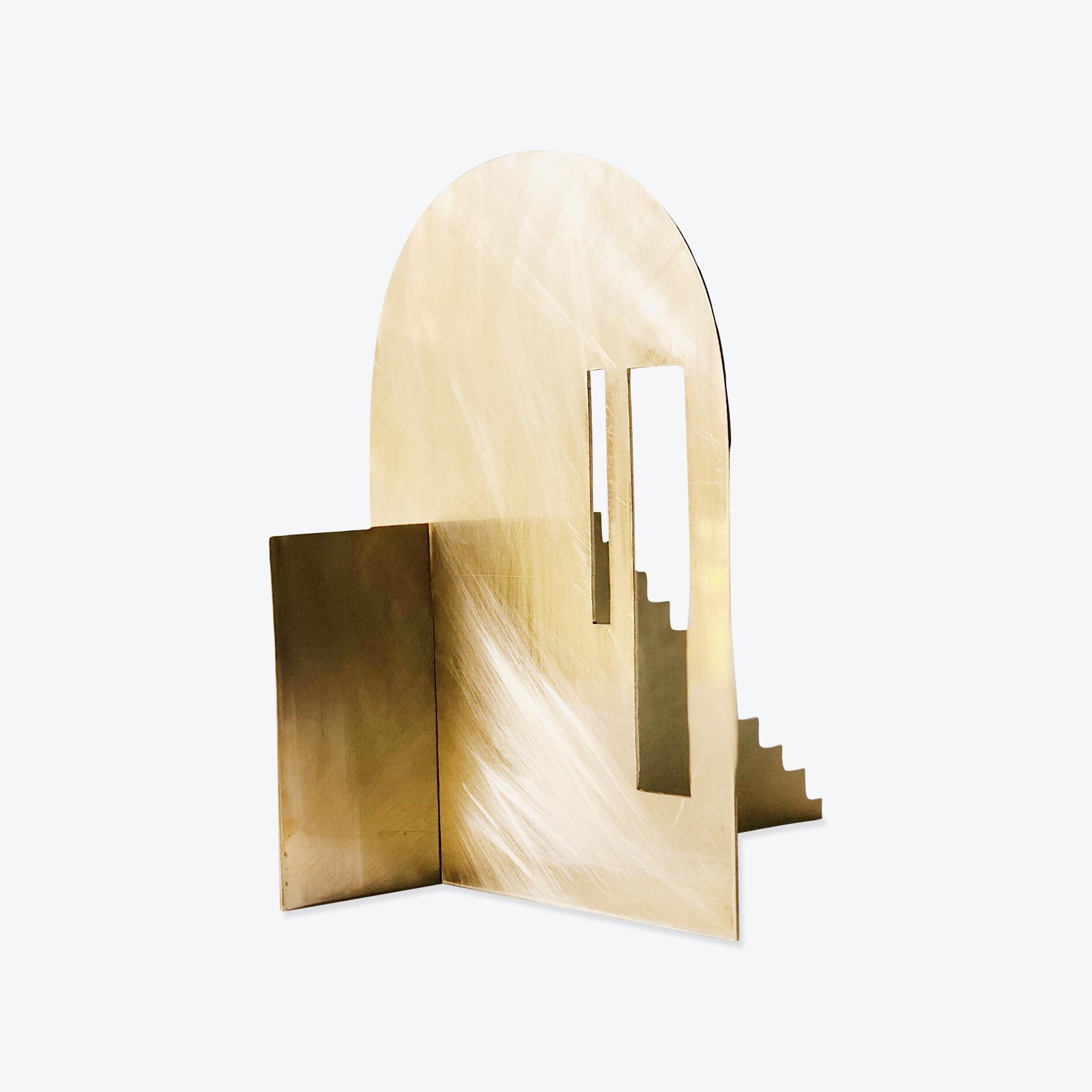 Fragmented Space Sculpture In Brass By Hearth Collective (alichia Van Rhijn) 02