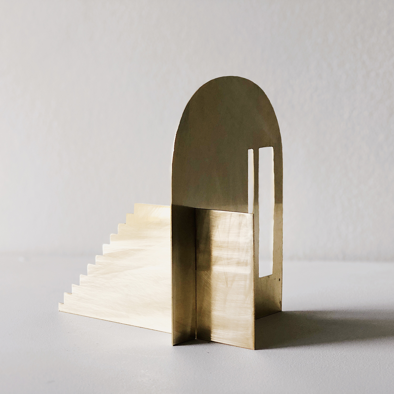 Fragmented Space Sculpture In Brass By Hearth Collective (alichia Van Rhijn) 05