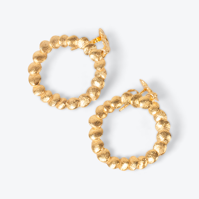 Mini Double Circle Earrings In Gold Plated Sterling Silver By Yasmin Hackett Thumb.jpg