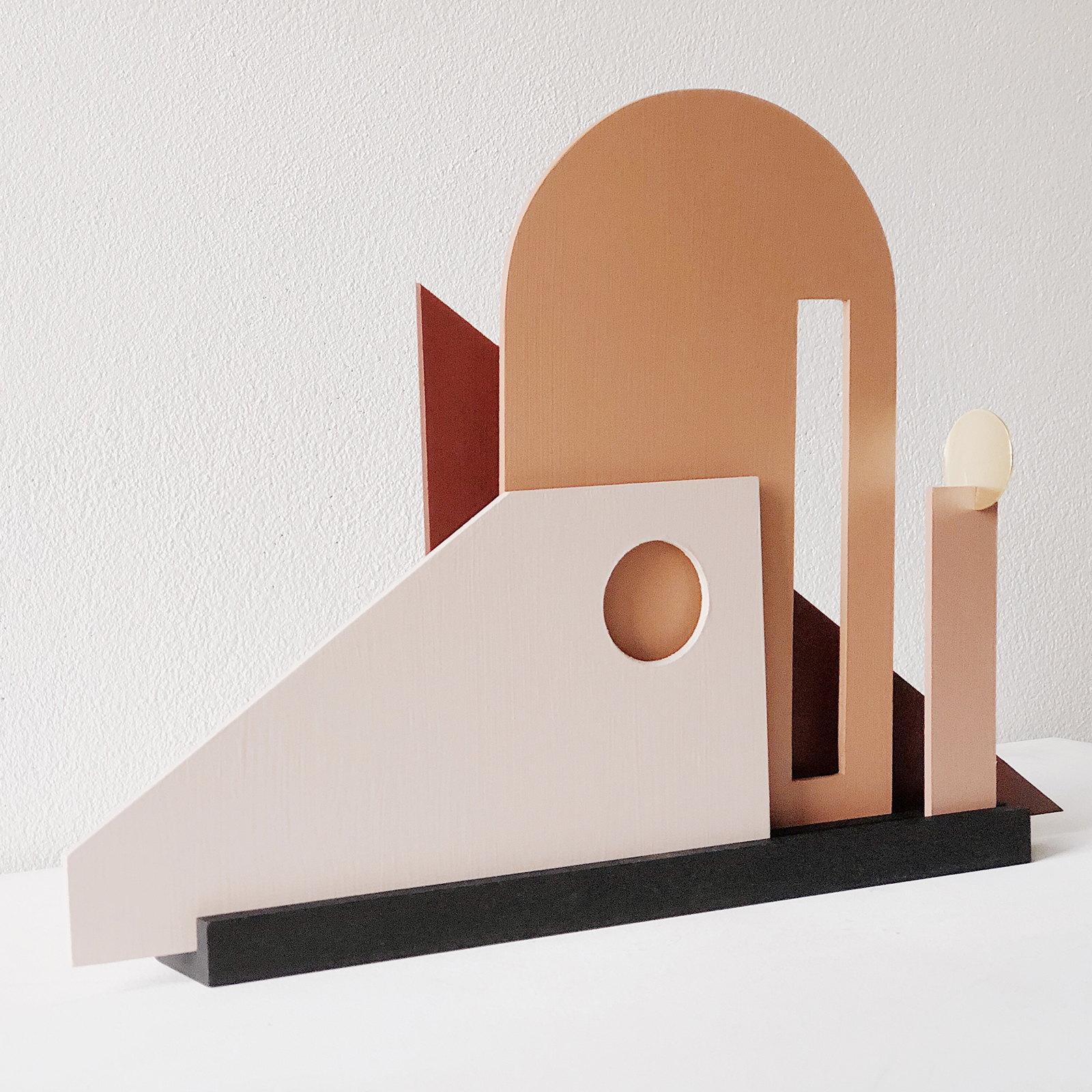 Moving Frames Sculpture In Timber And Brass By Hearth Collective (alichia Van Rhijn) 04