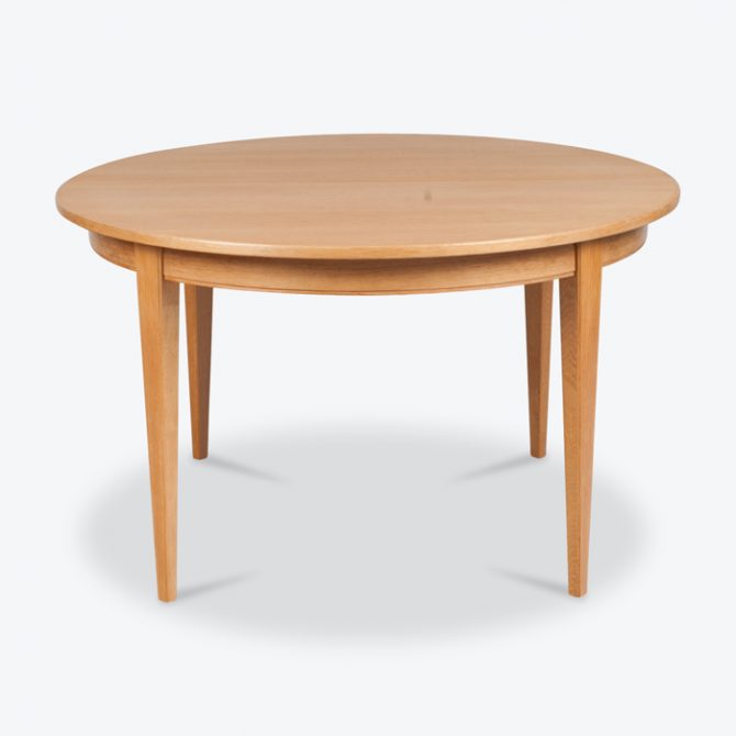 Round Dining Table By Omann Jun With Three Extension Leaves In Oak 1960s Denmark Thumb.jpg