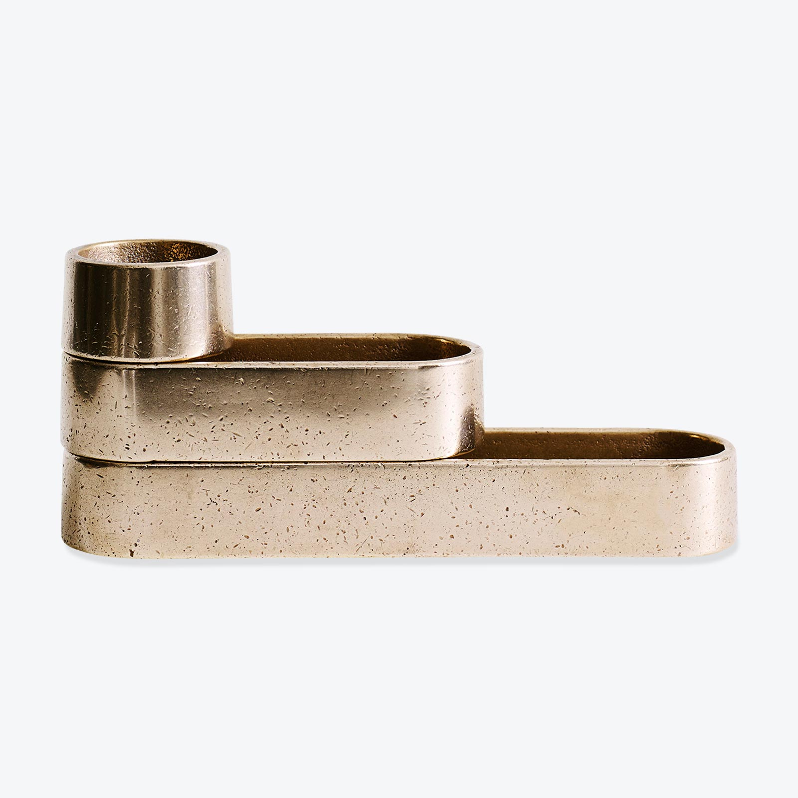 Set Of 3 Stack Trays In Polished Bronze By Henry Wilson 01