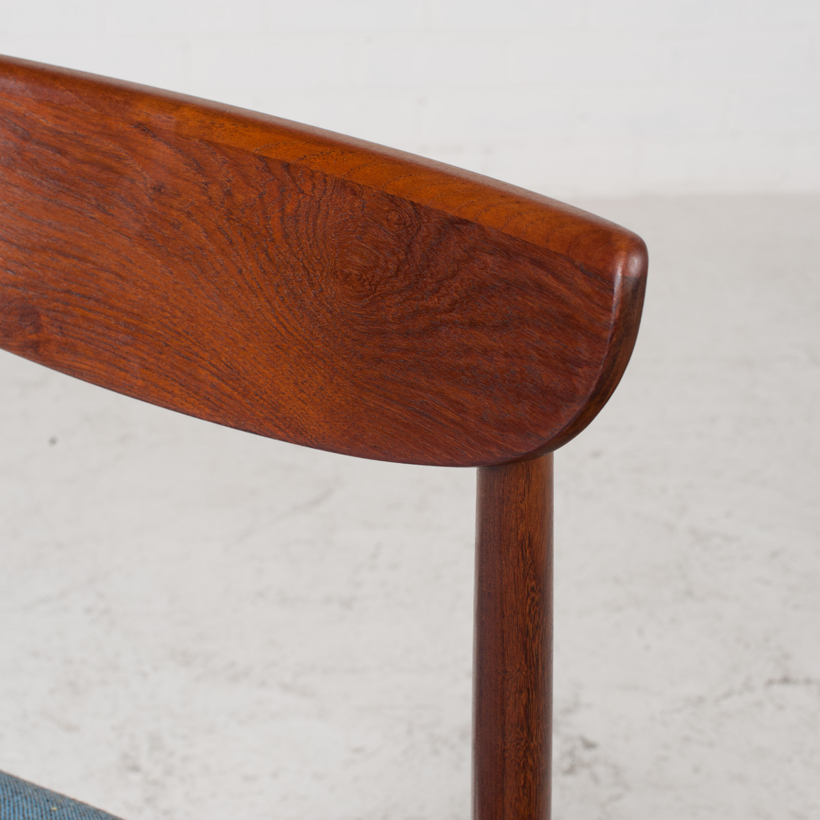 Set Of 4 Curved Lip Dining Chairs In Teak 1960s Denmark 09
