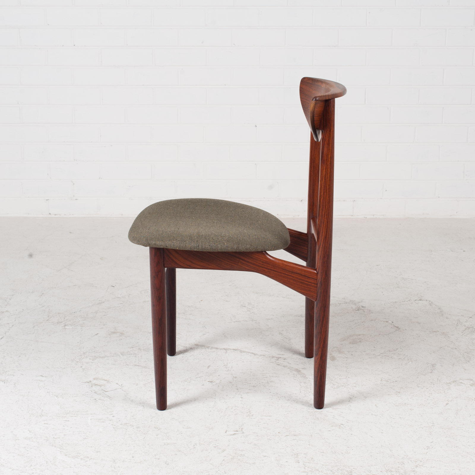 Set Of 4 Dining Chairs By Kurt Ostervig In Rosewood 1960s Denmark 09