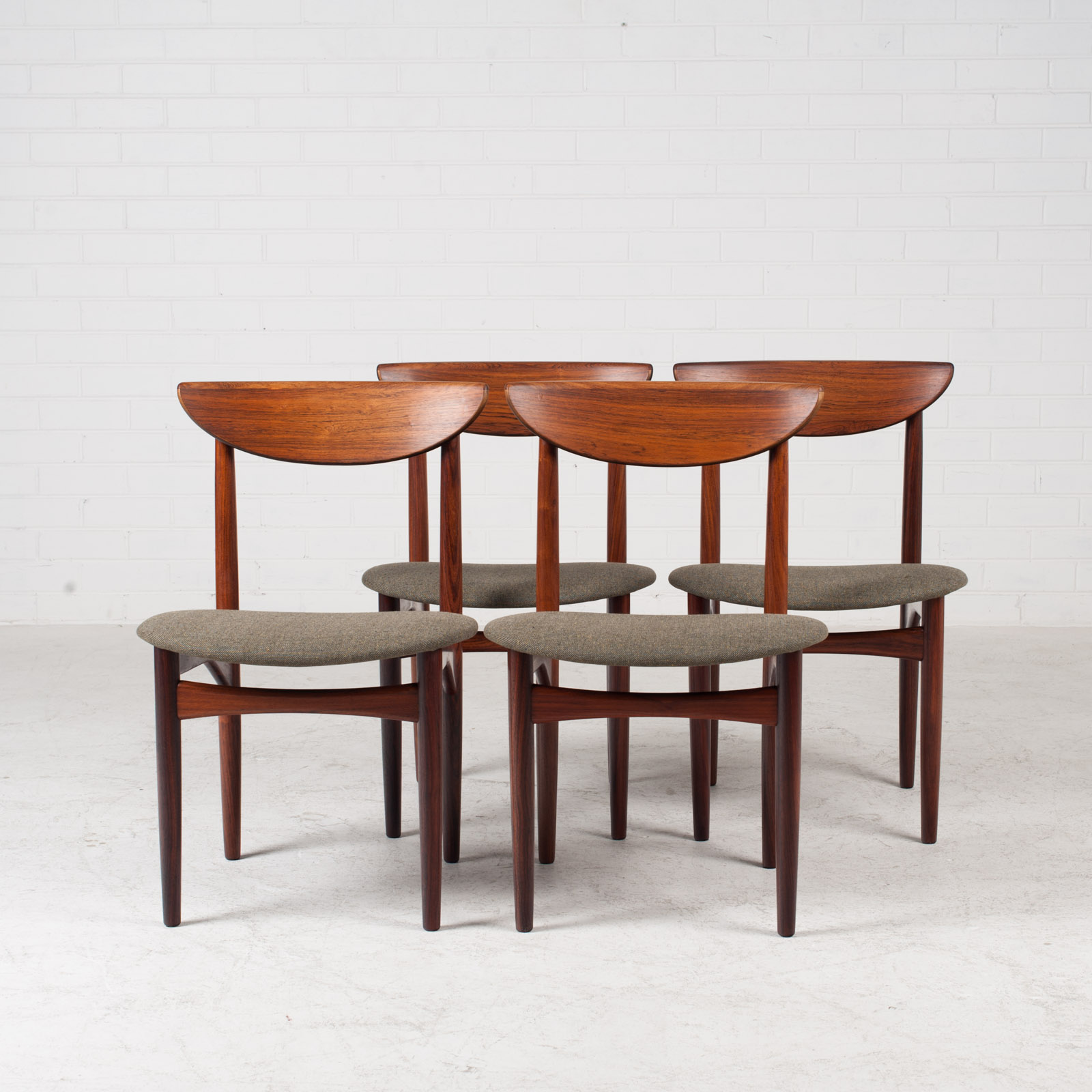 Set Of 4 Dining Chairs By Kurt Ostervig In Rosewood 1960s Denmark 12