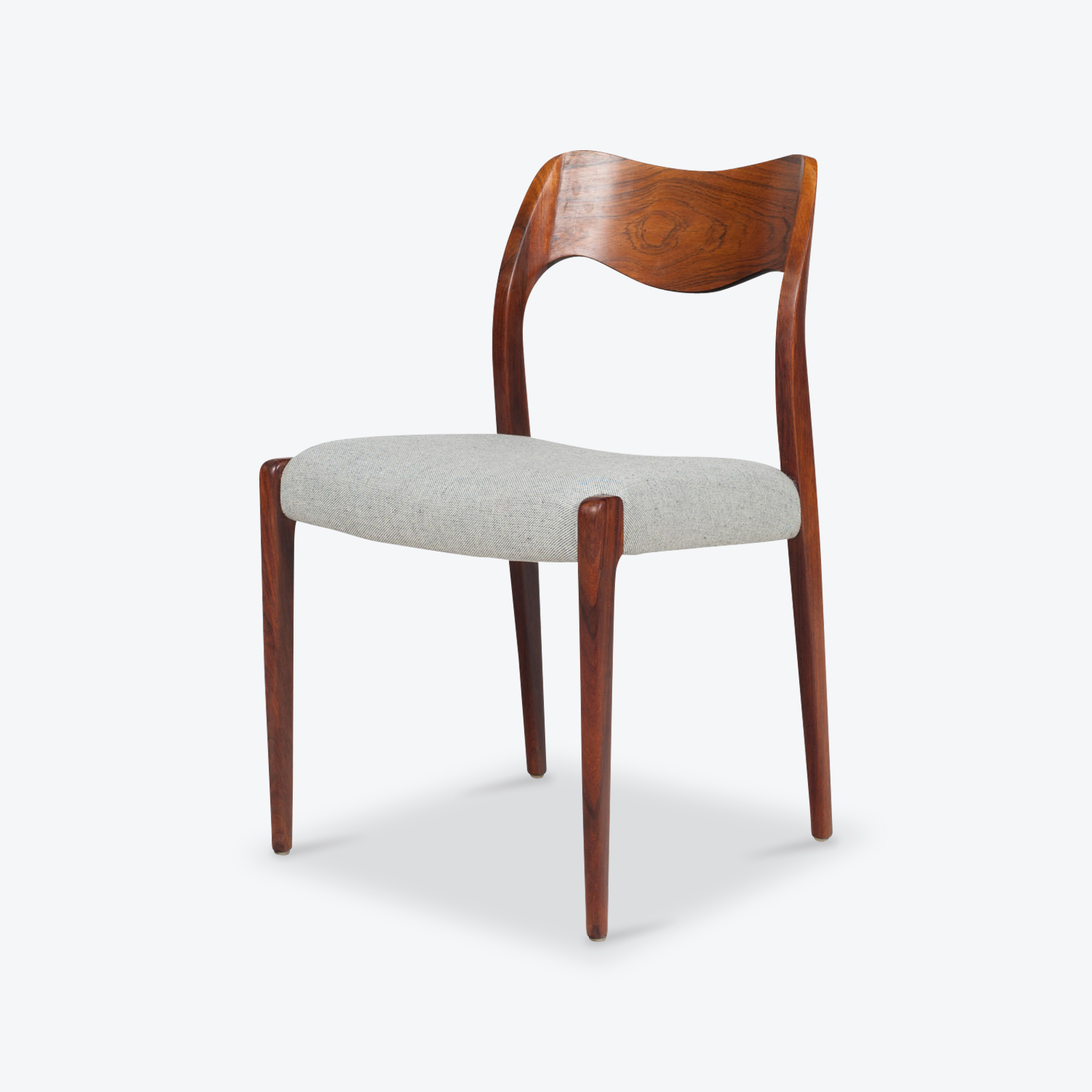new styles 6b073 db256 Set of 6 Model 71 Dining Chairs by Niels Moller for J. L. Mobelfabrik in  Rosewood, 1950s, Denmark
